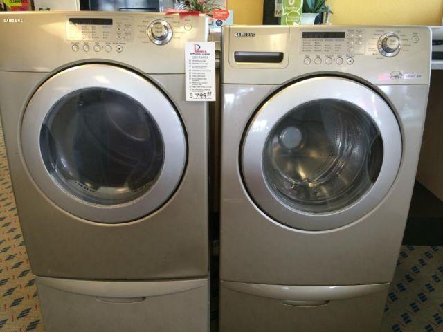 Samsung Slate Front Load Washer Amp Dryer Set Pair Used