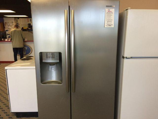 Samsung Stainless Side By Side Refrigerator Used For Sale In