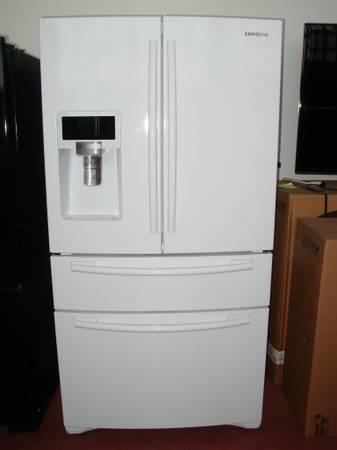 Samsung White 4 Door French Refrigerator Rf4287hdwp For