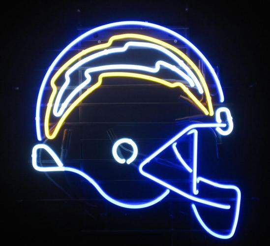 San Diego Chargers For Sale: San Diego Chargers Football Helmet Neon Sign For Sale In
