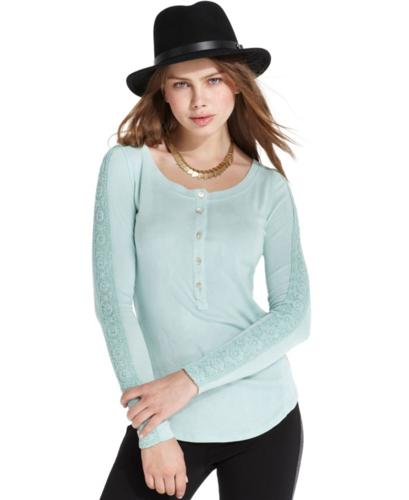 Sanctuary Top, Long-Sleeve Henley