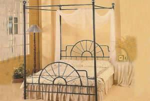 SANDY BLACK CANOPY BED - $70