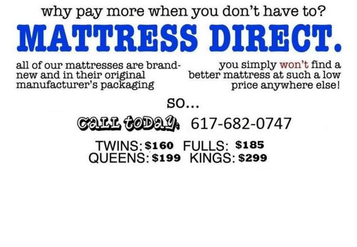 SAVE TODAY FULL $230 / QUEEN $280 / KING $380 Mattress