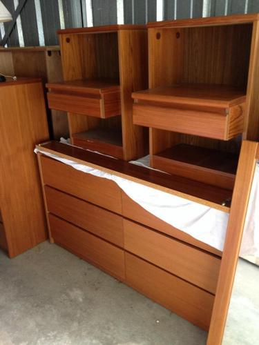 Scandinavian Design Teak Bedroom Set For Sale In Connecticut State Prison Connecticut
