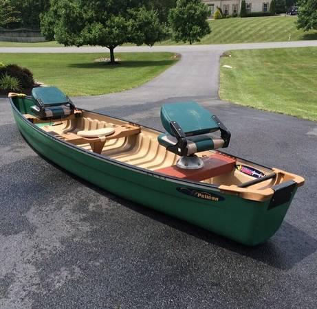 Scanoe canoe 17 feet trolling motor brand new battery for Longest lasting trolling motor battery