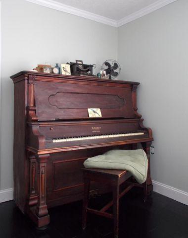 Schubert Antique Upright Mahogany Piano Circa 1905 Model