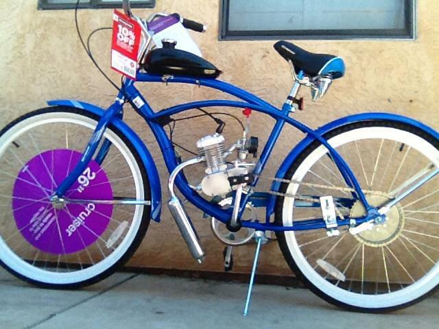 Schwinn Beach Cruiser 80cc Motorized Bicycle For Sale In