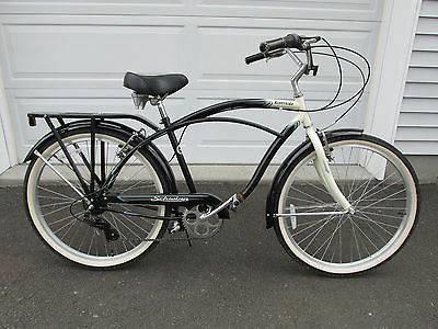 Schwinn Riverside Cruiser Hybrid Bike-7 speeds, helmet, lock  lights - $175 Gr