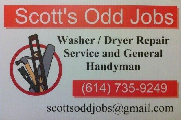 Scott S Odd Jobs Washer Dryer Repair And Handyman Service