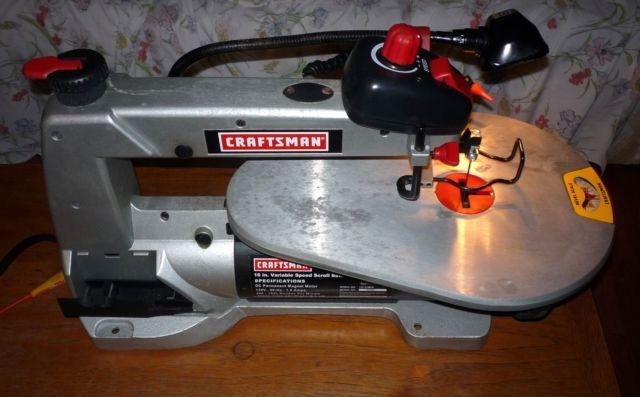 Scroll Saw 16 Inch Craftsman Variable Speed Wood Tools 137.216010