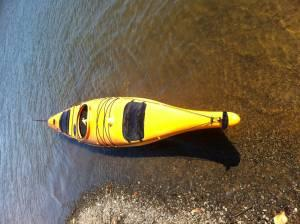 Sea Kayak 17' rudder Wilderness Systems Cape Horn -