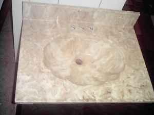 Sea Shell Shape Marble Coutertop Sink 4 White