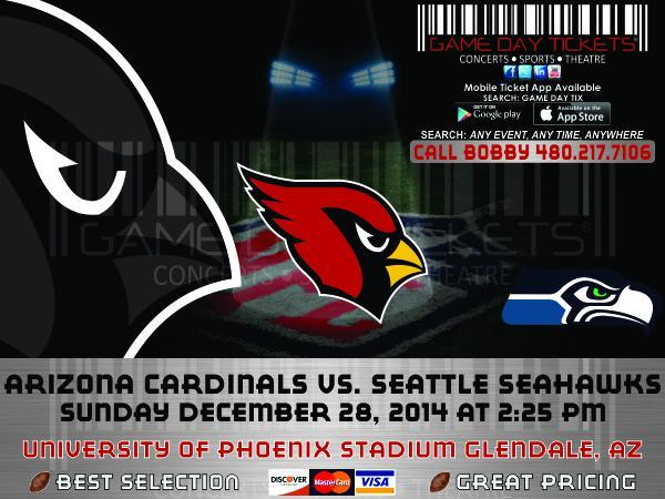 Seahawks @ Cardinals Parking Passes Tickets