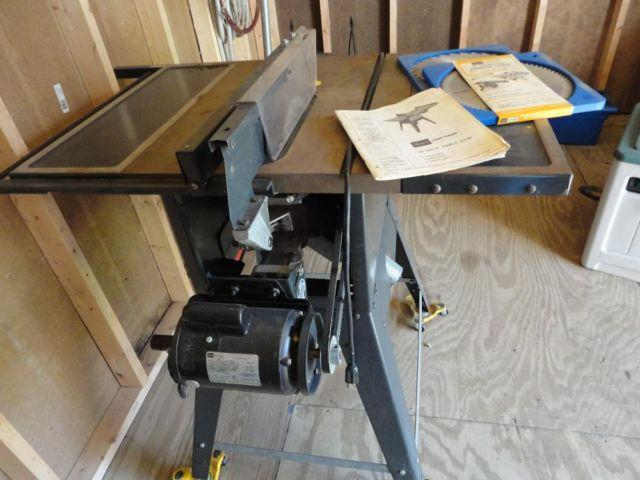 Sears Craftsman 10 Quot Table Saw With Leg Set Amp Portable