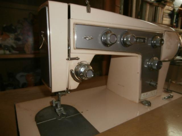 Sears Kenmore Sewing Machine plus Blond Cabinet and