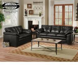 Sebring Black Sofa & Loveseat - $698
