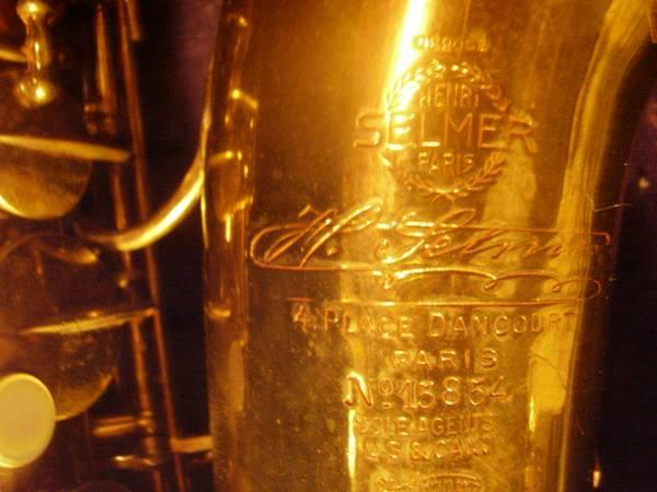 Selmer Cigar Cutter Alto Saxophone - $2400