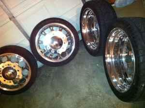 semi truck wheels for dually adapters included - (lawrence ...