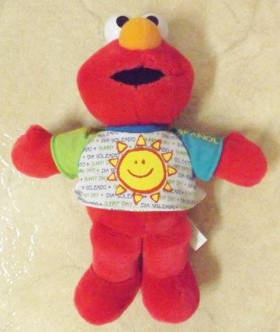 Sesame Streets Sunny Day Singing Elmo Doll SpanishEnglish