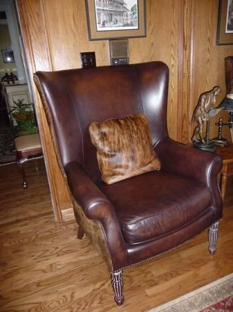 Set Bernhardt Dakota Wingback Leather Amp Disguise Seats