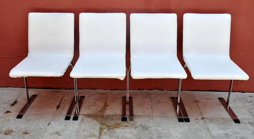 Set four 4 mid century modern saporiti italian chrome for Mid century furniture florida