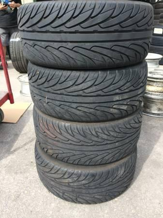 SET OF 245 45 R17 TIRES 80% TREAD WITH A GREAT