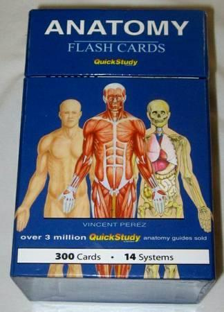 SET OF 300 QUICKSTUDY ANATOMY FLASHCARDS - $15