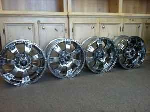 """Ford F150 Factory Rims For Sale >> Set of 4 Incubus Krawler Chrome 18"""" Rims Fits FORD 6 LUG ..."""