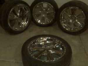 set of 4 rims with tires for a chevy - $1000 (north
