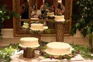Set of 4 Rustic Wood Wedding Cake Stands and Centerpieces (about ...