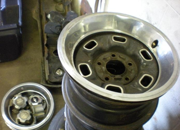 Set of 5 Rally Wheels Complete - (Danville Va) for Sale in ...