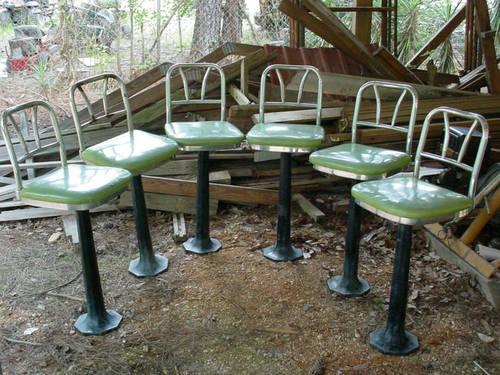 Astounding Set Of 6 Art Deco Soda Fountain Bar Stools 1950S New Orleans Alphanode Cool Chair Designs And Ideas Alphanodeonline