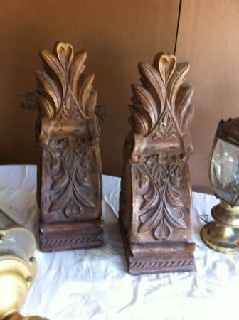 set of brown resin corbels - $10