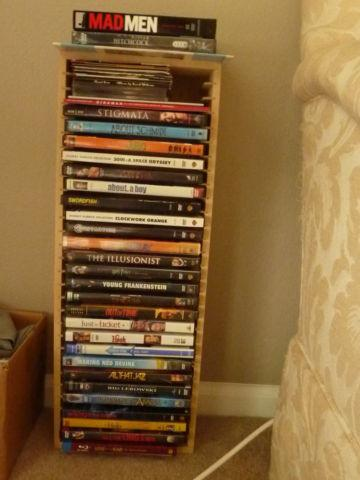 Set of DVDs, assorted titles, approx 25