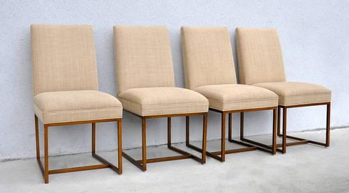 Set Of Four (4) Designer Dining Chairs By Mitchell Gold