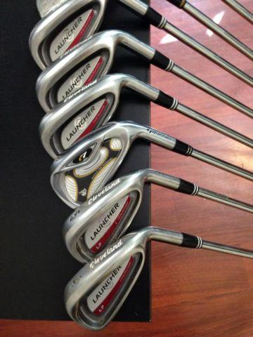 SET of GENTLY USED GOLF CLUBS -CLEVELAND LAUNCHERS... for ...