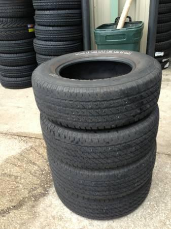 SET OF NICE 255 65 R17 MICHELIN TIRES 75% TREAD 30000