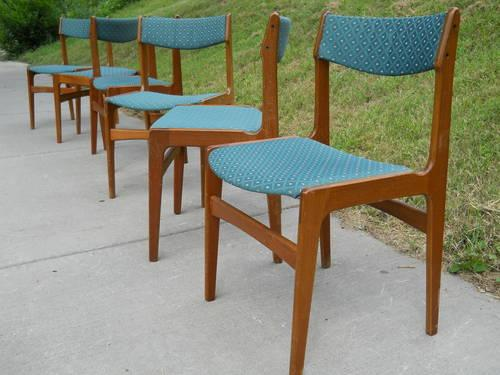 Set Of Six Vintage Danish Teak Dining Chairs For Sale In Minneapolis Minnesota Classified