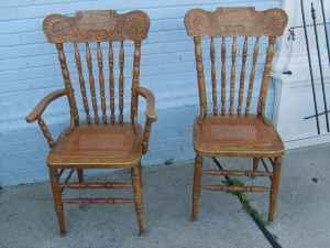 Caned Bottoms http://winchester-va.americanlisted.com/furniture/set-of-5-oak-cane-bottom-chairs-very-nice-325-strasburg_20148947.html