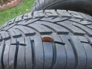 SEY OF 4 BRAND NEW TIRES ON RIMS - $225 (CLIFTON PARK)