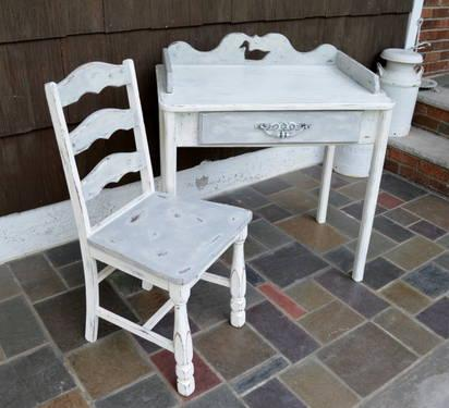 Shabby Chic Country Style Desk With Chair For Sale In East Hanover New Jersey Classified