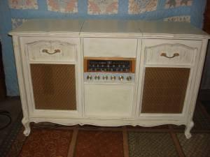 Shabby Chic French Provincial Stereo Console WORKING - $195 (Tomball)