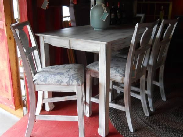 SHABBY CHIC HIGH BOY TABLE 4 CHAIRS For Sale In Olde