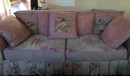 Shabby Chic Sofa Loveseat And Chair For Sale In