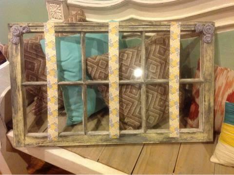 ***Shabby Chic Wood Window Holder*** - $52