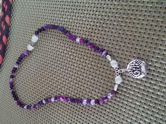 Shades Of Purple Crystal Necklace WITH A Popper INCLUDED