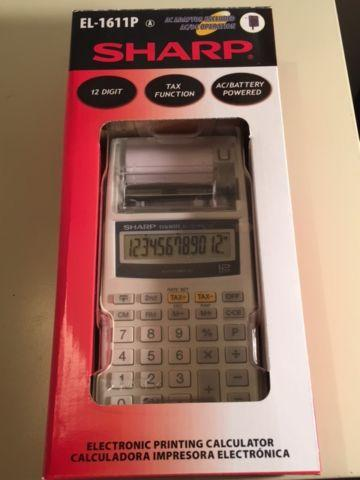 sharp el 1611p electronic printing calculator for sale in bellevue