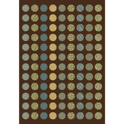 Shaw Living Circle Mix Brown 7 Ft 8 In X 10 Ft 10 In