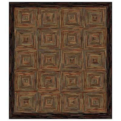 Shaw Living Rustic Blocks Multi 7 Ft 8 In Square Area