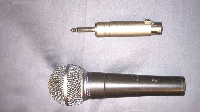 Shure SM58 Microphone and AtlasSoundolier Microphone Stand